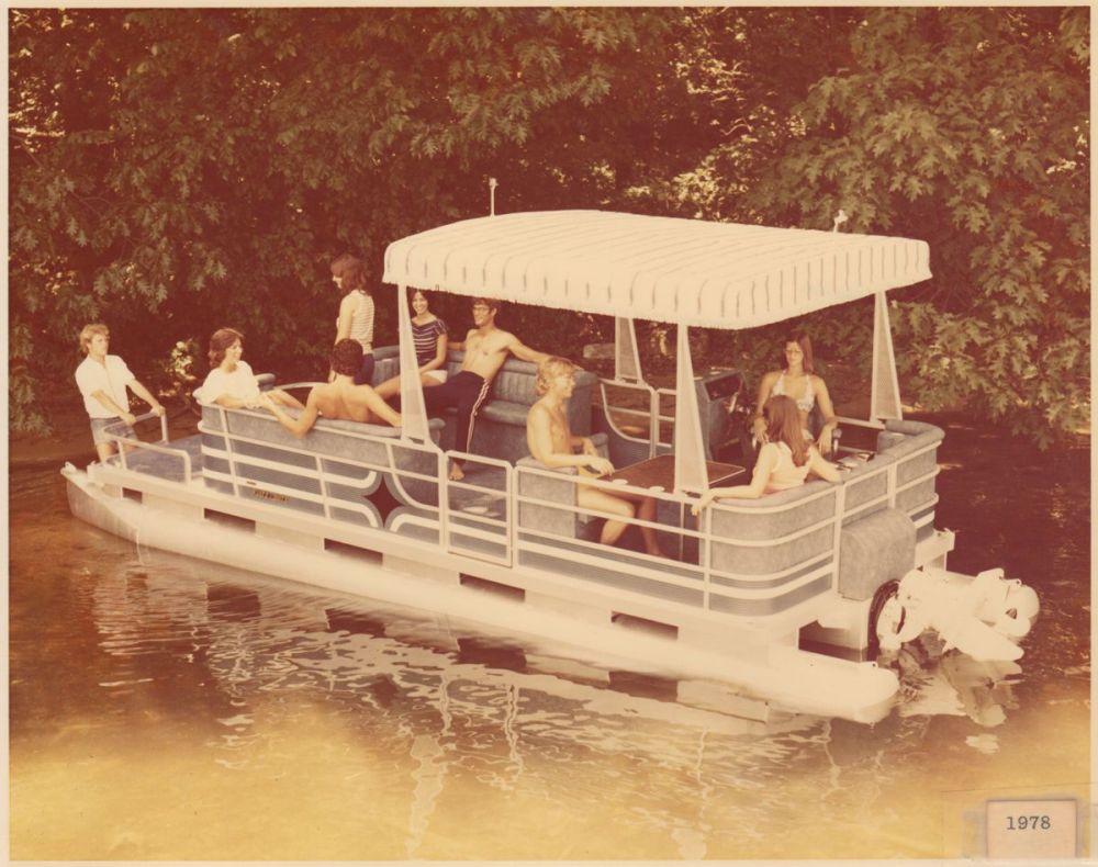 medium resolution of pontoon boat poster
