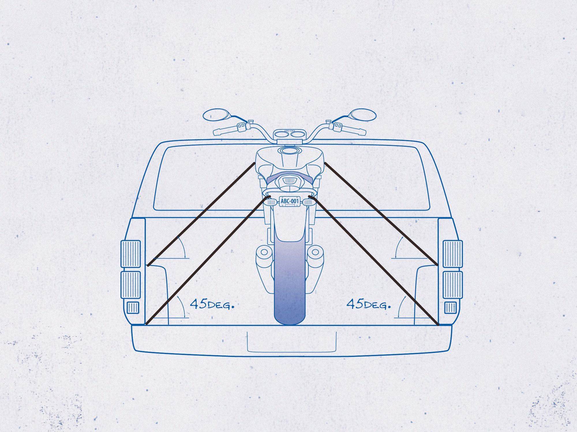 hight resolution of the right way to tie down and transport your motorcycle motorcycle cruiser