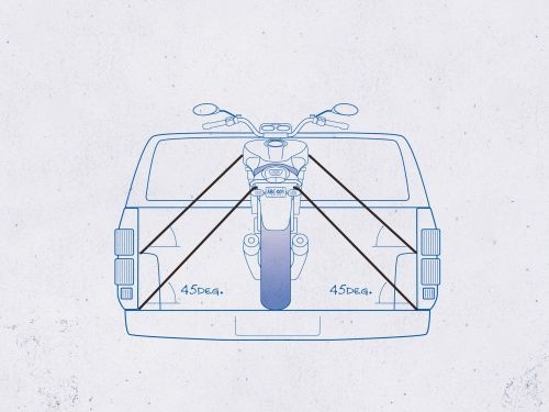 small resolution of the right way to tie down and transport your motorcycle motorcycle cruiser