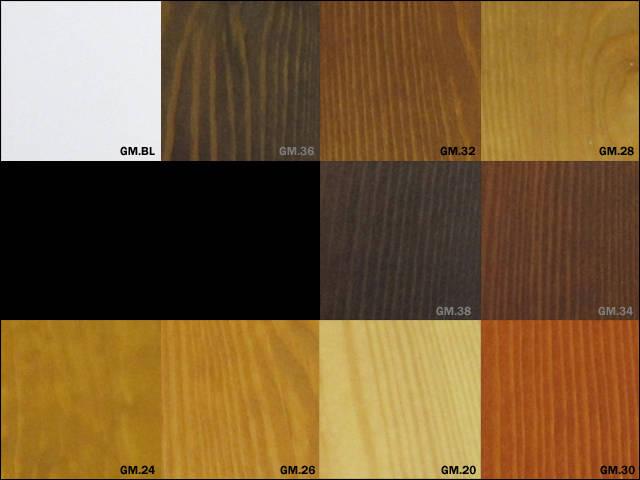 Gama de colores para barnices
