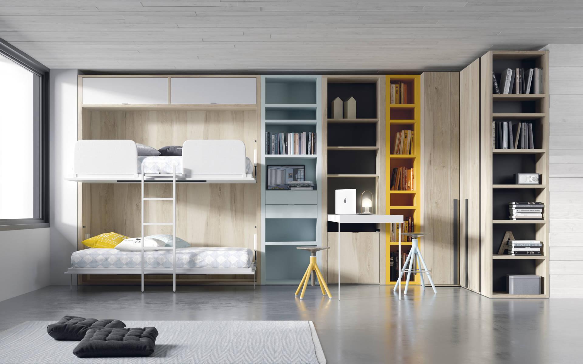 Composicin armarios con camas abatibles