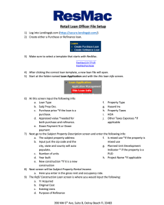 Retail Loan Officer Playbook