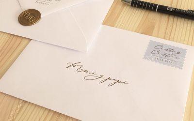 Cómo decorar los sobres de tus invitaciones de Boda.