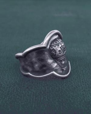 Antique Marie-Antoinette Cameo style hot air balloon ring made in France | Res Mirum