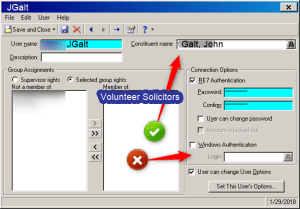 Raiser's Edge Web View Security User Not Linked So Only RE NXT login possible