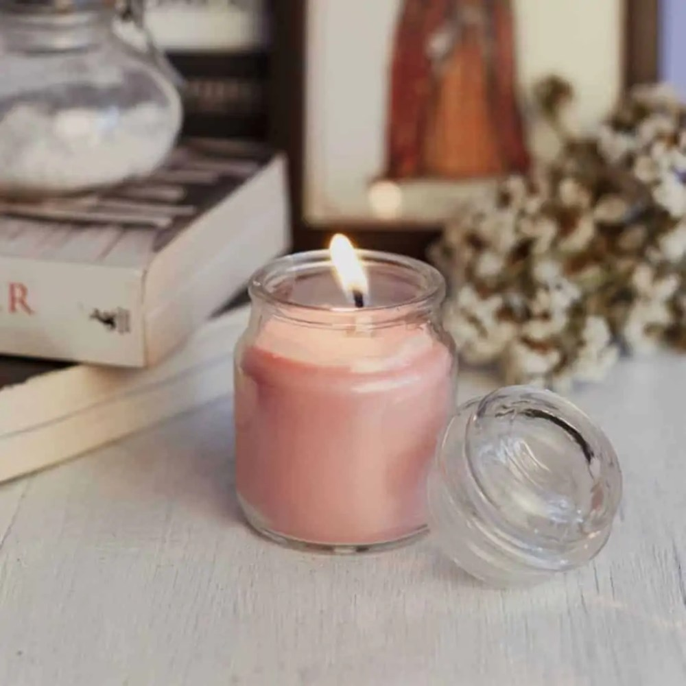 Apple Cinnamon Natural Wax Glass Top Jar Candle