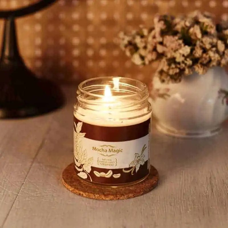 Mocha Natural Wax Medium Jar Candle