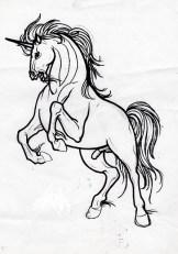 very angry unicorn