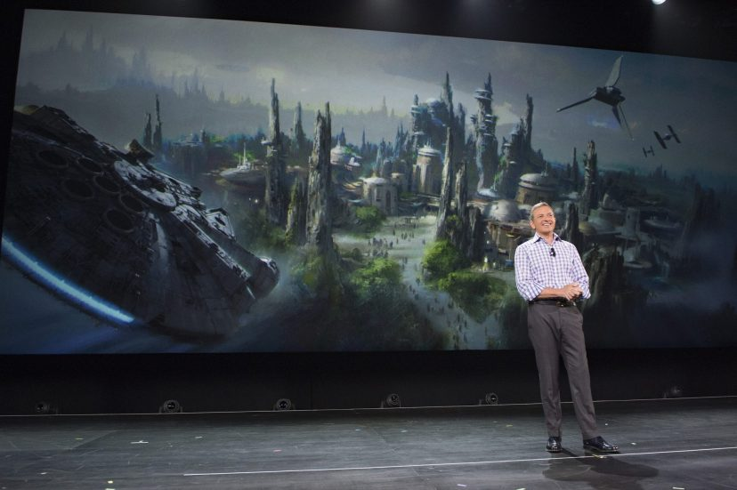 Walt Disney Company Chairman and CEO Bob Iger announced at D23 EXPO 2015 that Star Wars-themed lands will be coming to Disneyland park in Anaheim, Calif., and DisneyÕs Hollywood Studios in Orlando, Fla., creating DisneyÕs largest single-themed land expansions ever at 14-acres each, transporting guests to a never-before-seen planet, a remote trading port and one of the last stops before wild space where Star Wars characters and their stories come to life.  These authentic lands will have two signature attractions, including the ability to take the controls of one of the most recognizable ships in the galaxy, the Millennium Falcon, on a customized secret mission, and an epic Star Wars adventure that puts guests in the middle of a climactic battle. (Richard Harbaugh/Disney Parks)