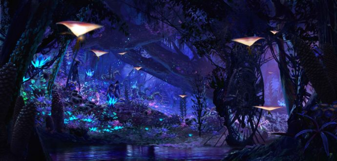 Pandora - The World of AVATAR will bring a variety of new experiences to Disney's Animal Kingdom, including a family-friendly attraction called NaÕvi River Journey. The adventure begins as guests set out in canoes and venture down a mysterious, sacred river hidden within the bioluminescent rainforest. The full beauty of Pandora reveals itself as the canoes pass by exotic glowing plants and amazing creatures. The journey culminates in an encounter with a NaÕvi shaman, who has a deep connection to the life force of Pandora and sends positive energy out into the forest through her music. NaÕvi River Journey will open with Pandora Ð The World of AVATAR in 2017. Disney's Animal Kingdom is one of four theme parks at Walt Disney World Resort in Lake Buena Vista, Fla. (Disney)