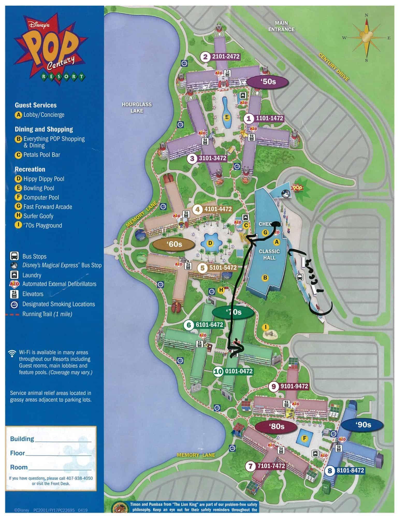 Pop Century Resort Map : century, resort, Disney's, Century, Resort, Review, Resorts
