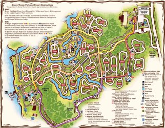 wilderness disney fort map resort campground walt site maps cabins resorts parks lodge water camp wdw kingdom chip magic dale