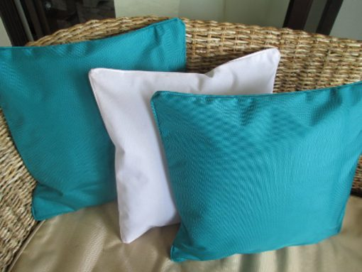 50x50cm turquoise white outdoor cushion covers