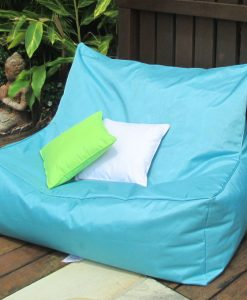 USTIME - commercial indoor outdoor giant bean bag turquoise on deck