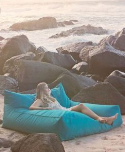 big kahuna indoor outdoor large bean bag lounger on beach