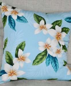 Frangipani Light Blue Indoor Cushion Cover