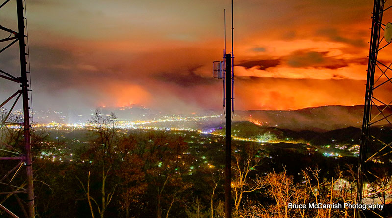 BREAKING NEWS: Fire in the Smokies Threaten Timeshare Resorts