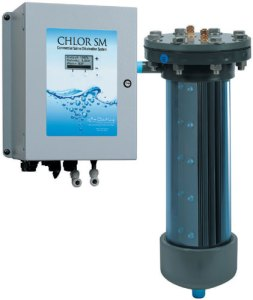 Chlor SM salt chlorinators sanitize pools ranging from 2,000 to 1,000,000 gallons.