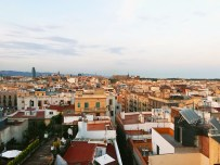 A roof top view from the Grand Central Hotel, Barcelona.