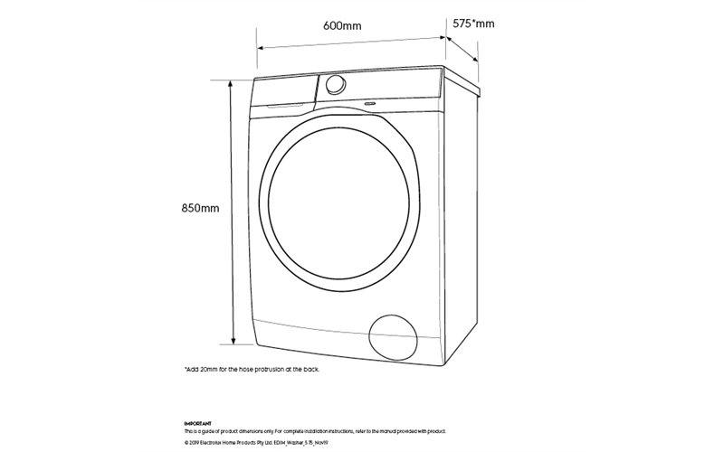 8kg front load washer, Daily 60 program (EWF8024CDWA