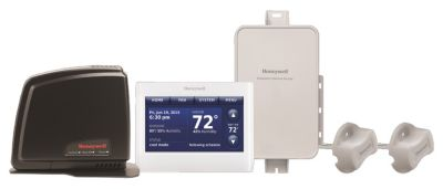 honeywell ythx9421r5127ww u prestige 2 wire iaq kit with high definition color touchscreen with redlink technology [ 1600 x 1600 Pixel ]