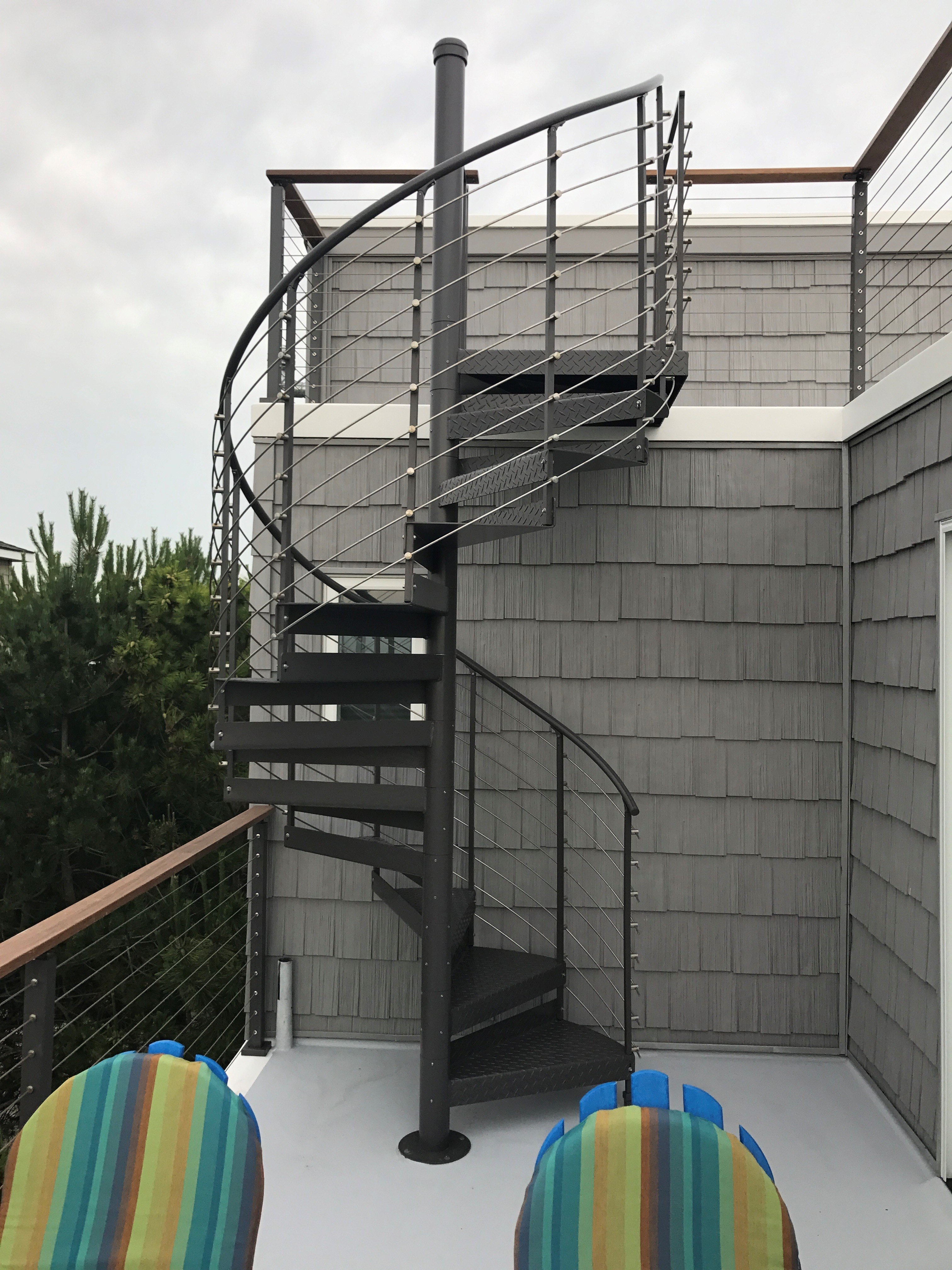 Trex® Spiral Stairs™ Introduces New Multi Line Railing System Nyse   Trex Enhance Stair Railing   Trex Deck Railing Installation   Clam Shell   Lighting   Installation Instructions   Composite Decking