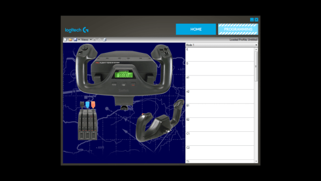 Flight Yoke System Professional Simulation Yoke and Throttle Quadrant