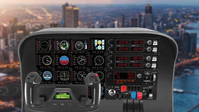 flight simulation cockpit panels