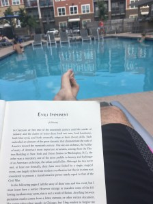 Michael Prince: reading by the pool