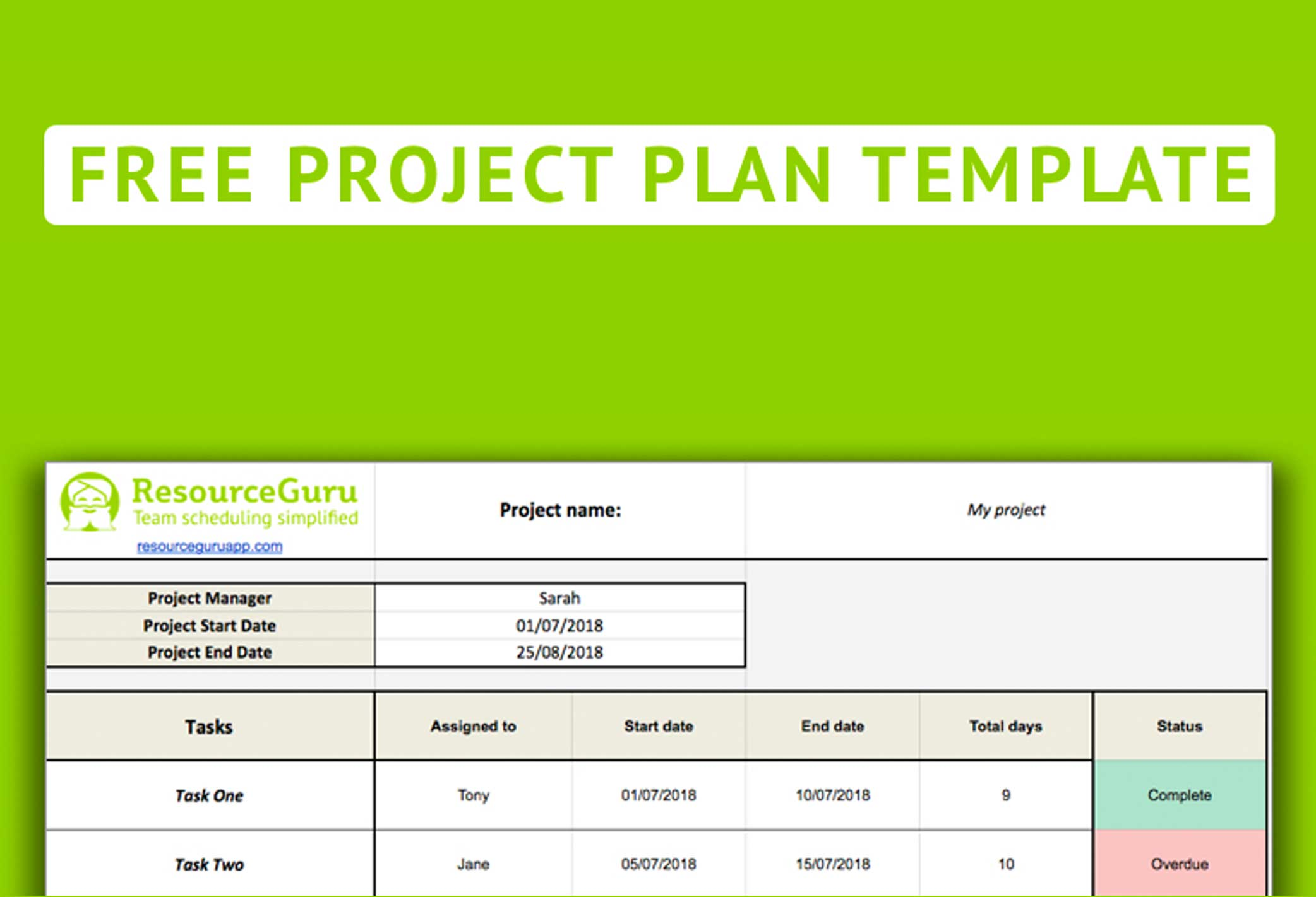 Developing a work plan helps to articulate the steps required for achieving a goal. Free Project Plan Template For Excel
