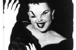 A distorted image of Judy Garland. Photo by Weegee.