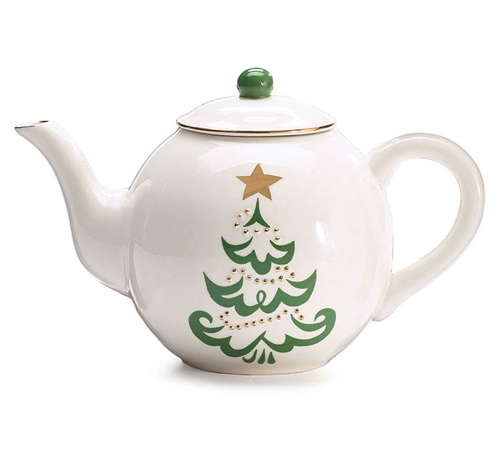 SHINING STAR CHRISTMAS TREE TEAPOT