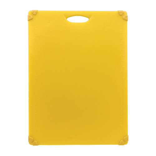 Yellow, color-coded cutting board for poultry