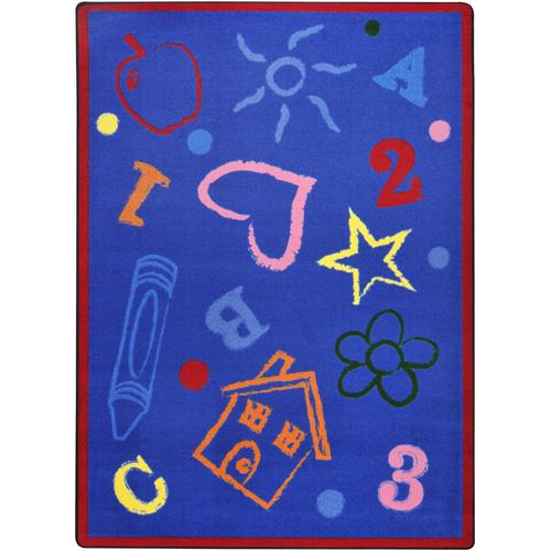 Bright classroom rug