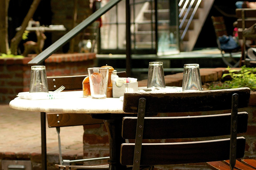 Classic Cafe Table and Setting