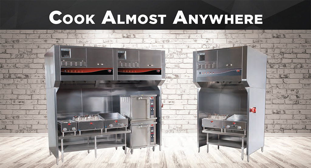 Ventless hoods allow commercial kitchens to set up cooking operations anywhere.