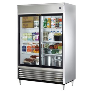 Reach-in Refrigerator with bottom-mounted compressor