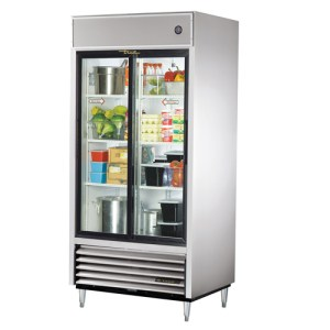 Reach-In Refrigerator with sliding glass doors