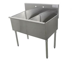 two compartment sink