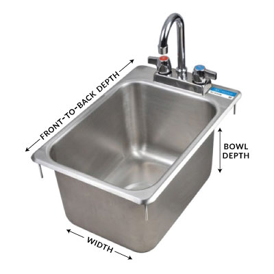 compartment sink dimensions
