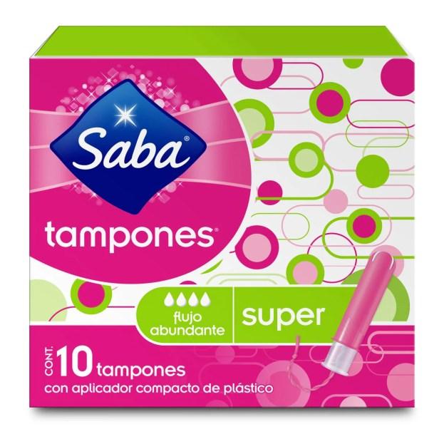 Tampones Compactos Super 10 Piezas Saba