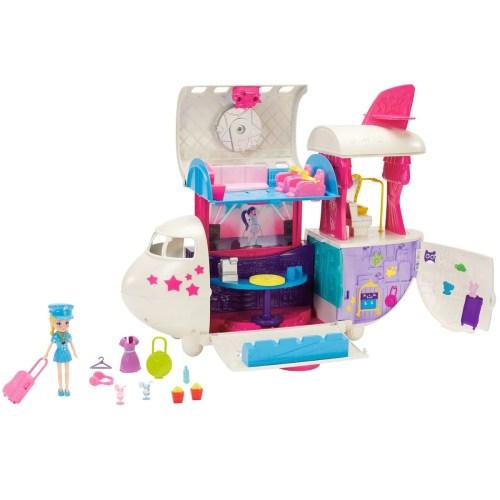 Polly Pocket Set de Juego el Jet Privado de Polly Mattel
