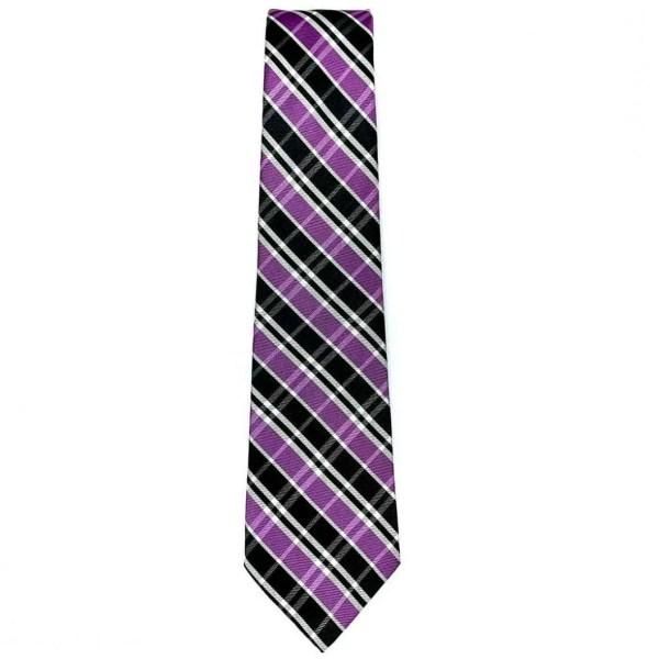 Corbata para Caballero Carlo Corinto con Diseño Elegante Cuadro Color Morado