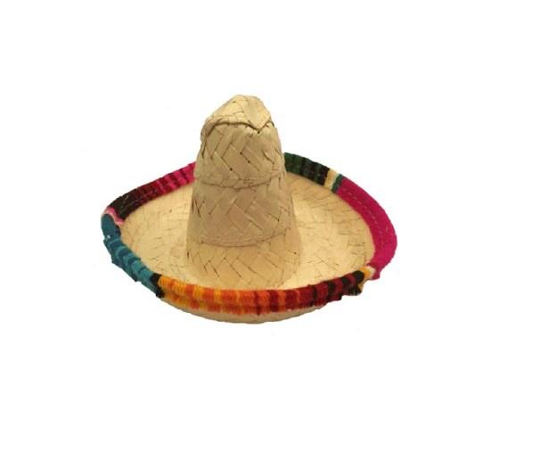 Sombrero Mexicano Para Perro Mediano Fabricado En Palma