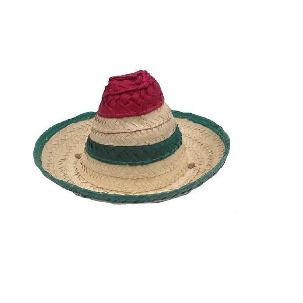 Sombrero Mexicano Para Perro Grande Fabricado En Palma