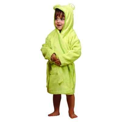 Bata de baño para niños verde mediana 4-6 años