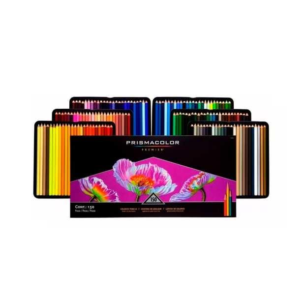 Lapices de Colores Prismacolor Premier Profesional Estuche Metal 150 Piezas