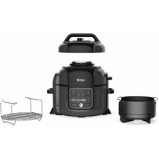 Ninja OP350CO Foodi presión 9 en 1, asar, deshidratar, olla lenta, freidora de aire y más, con capacidad de 6.5 cuartos y un acabado brillante (negro) (Reacondicionado)