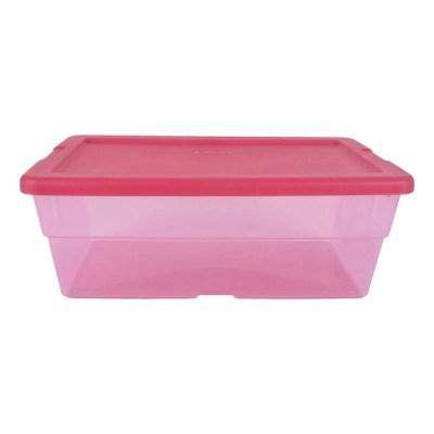 Caja De Plástico 5.7 L Rosa