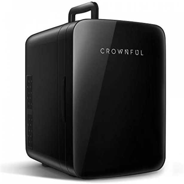 Refrigerador Mini CROWNFUL Portátil Capacidad 10L -Negro
